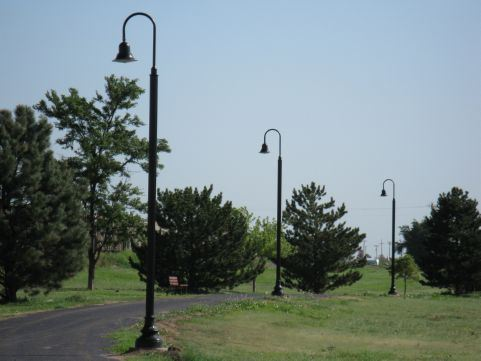 Whistle Stop Park light poles