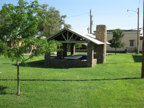 City Library Park picnic shelter
