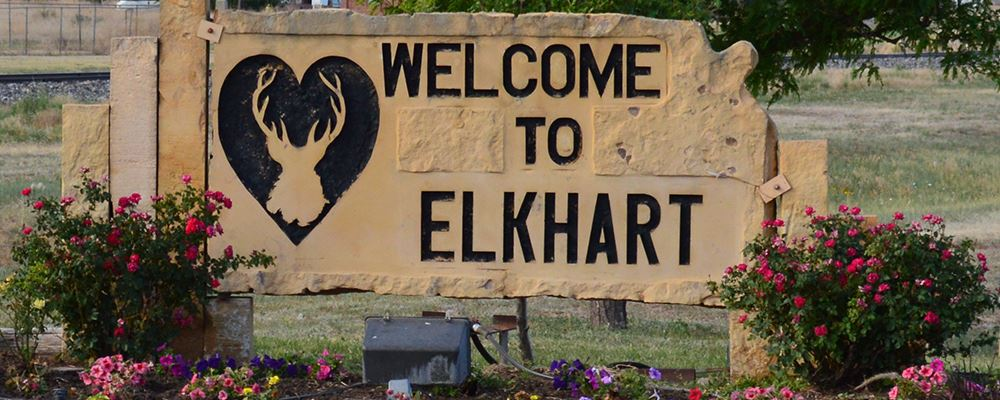 Welcome to Elkhart sign